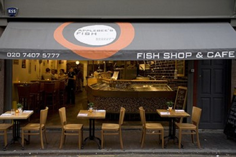 Applebee s fish shop cafe photo gallery borough market for Applebee s fish and chips