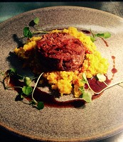 Lamb shoulder, apricot and coriander bulgur wheat