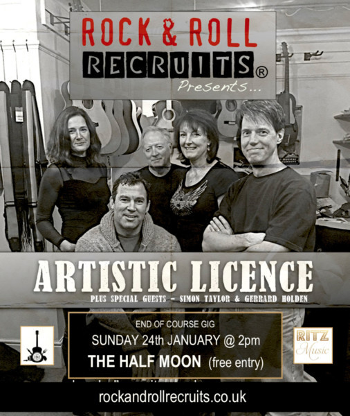 Rock & Roll Recruits presents: Artistic Licence