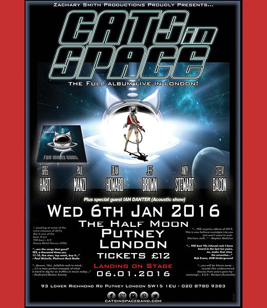 CATS in SPACE + support from Ian Danter