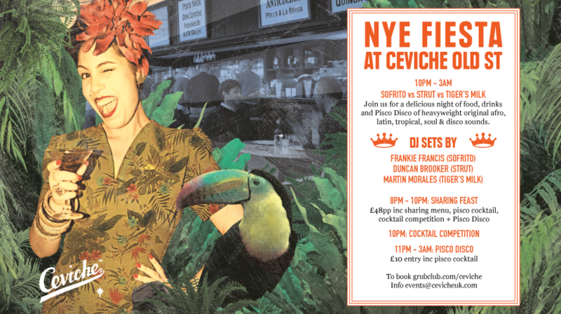 NYE FIESTA AT CEVICHE OLD ST