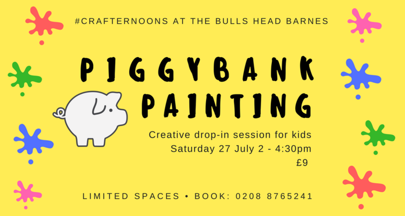 PIGGY BANK PAINTING: KIDS #CRAFTERNOONS
