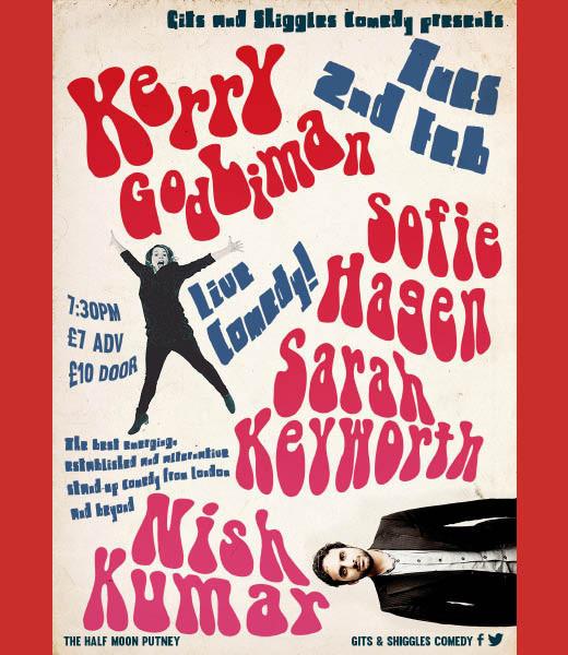 Gits & Shiggles comedy presents Kerry Godliman, Sofie Hagen and Sarah Keyworth + more TBA