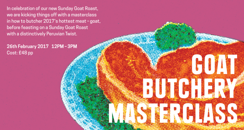 Goat Butchery Masterclass and Sunday Goat Roast