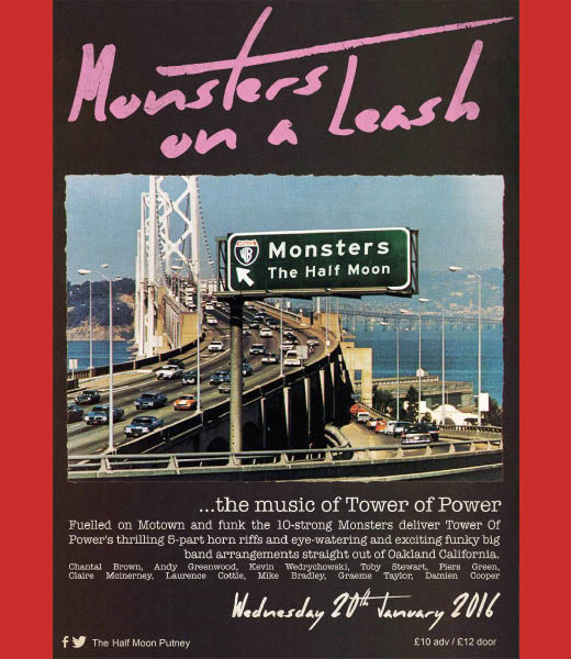 MONSTERS ON A LEASH - 'The music of Tower of Power'