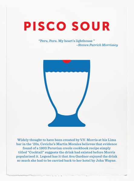 Limited edition Pisco Sour screen print goes on sale