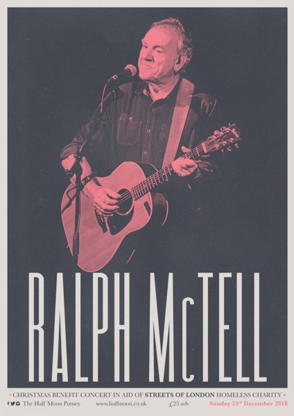 Ralph McTell's Christmas Benefit Concert in aid of Streets of London homeless charity