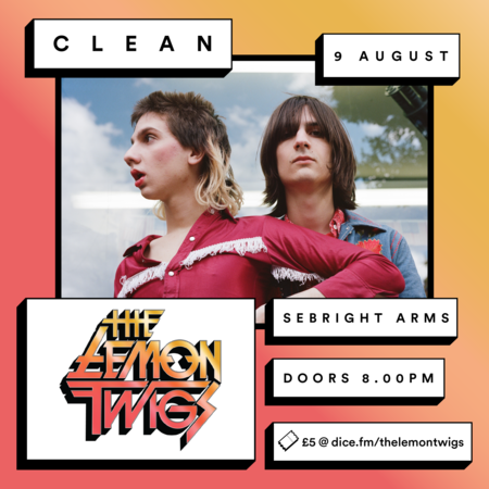 Seabright Arms - CLEAN presents: The Lemon Twigs SOLD OUT