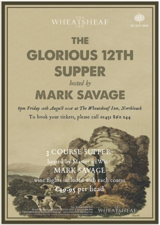 The Glorious 12th Supper hosted by Mark Savage