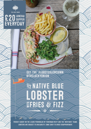 1/2 Lobster, Fries & Fizz