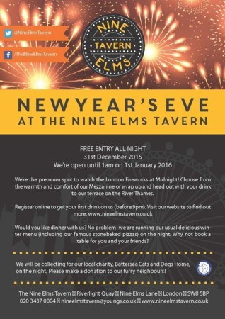 New Year's Eve - Watch the London Fireworks!