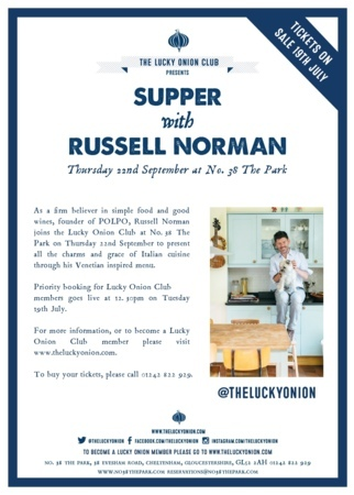 Supper with Russell Norman