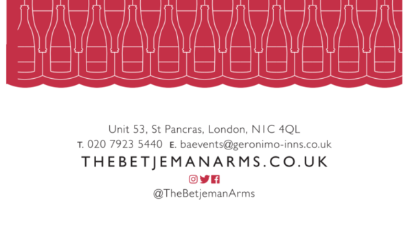 Wine & Canapés with The Betjeman Arms