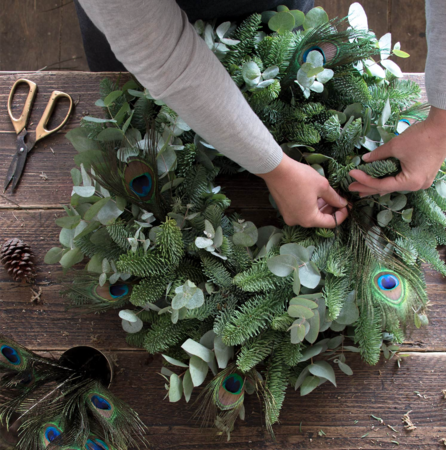 Christmas wreath or table decoration workshop