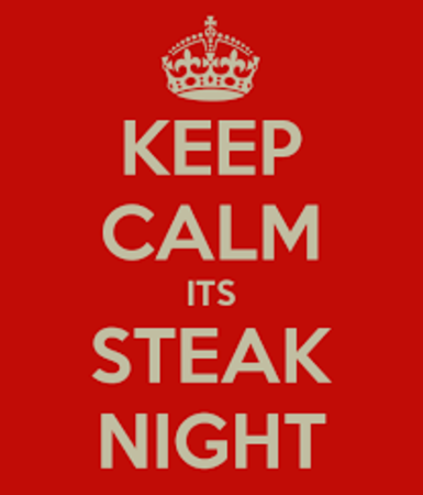 Steak night Wednesdays