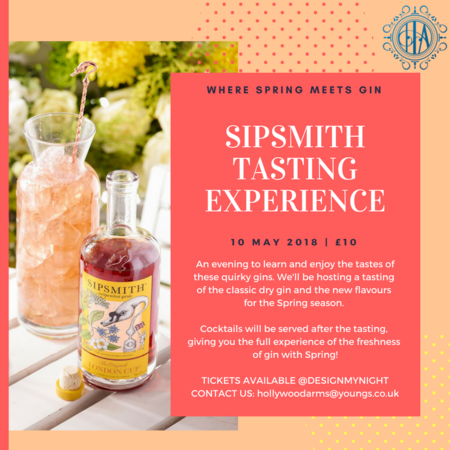 SIPSMITH TASTING EXPERIENCE - WHERE SPRING MEETS GIN!