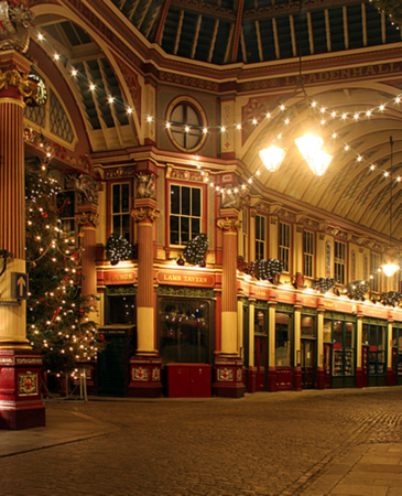 Leadenhall Market Christmas Light Switch On
