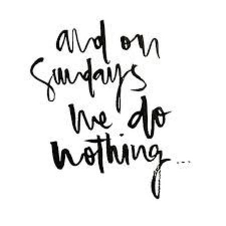 Sundays are for relax & recharge...