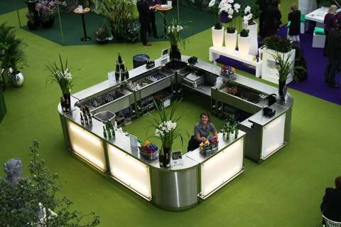 CHAMPAGNE BAR, LANDSCAPING SHOW AT OLYMPIA