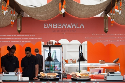 Dabbawalla at the Silver Street Food Market, Royal Ascot 2015
