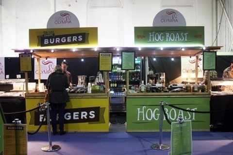 Messy Chops Burgers and Hog Roast, The London International Horse Show, Olympia London 2015
