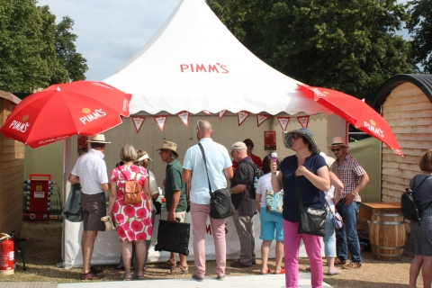 Pimm's Bar at RHS Hampton Flower Show 2015