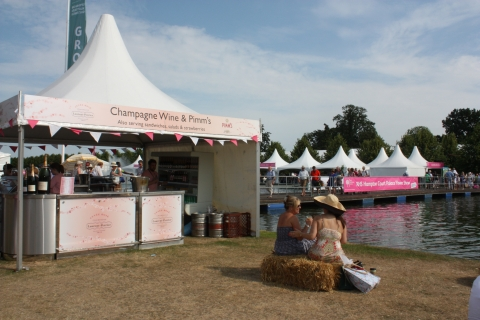 Champagne, Wine & Pimm's Bar at RHS Hampton Flower Show 2015