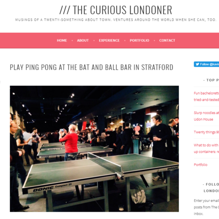 The Curious Londoner