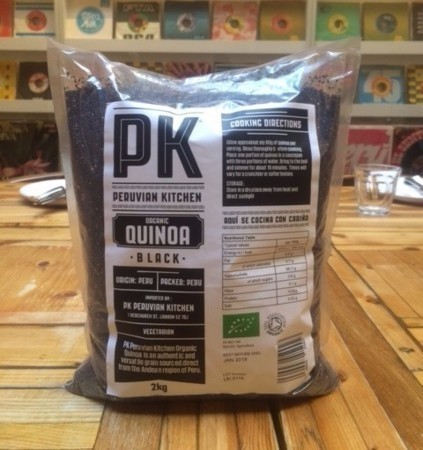 PK ORGANIC BLACK QUINOA, 2KG BAG
