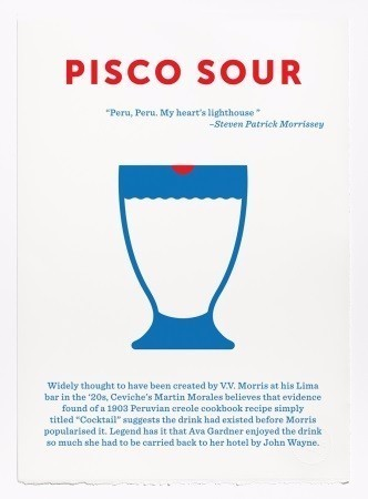 LIMITED	EDITION	PISCO SOUR SCREEN PRINT