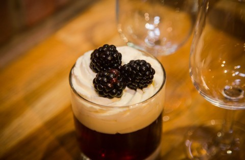 Blackberry & Pinot Noir trifle