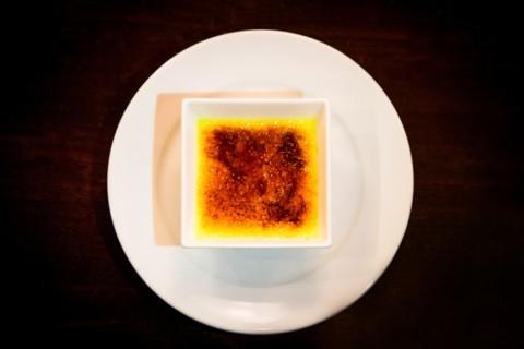 Apricot crème brûlée